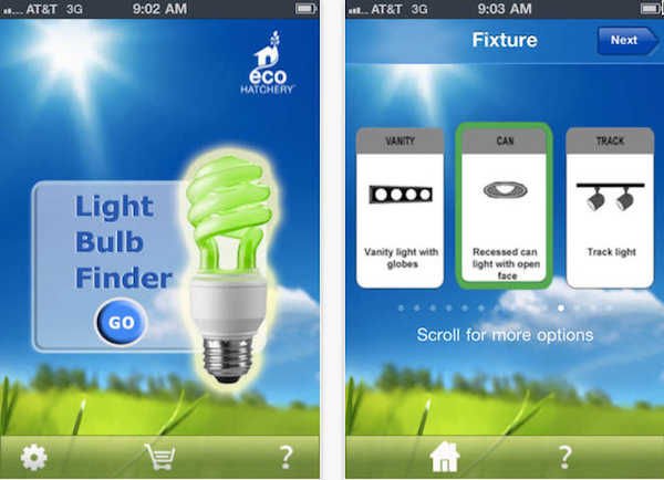 Light Bulb Finder Is A Free Green For Android And Ios Which Makes It Easy To Switch From Conventional Bulbs Energy Saving Equivalents With The